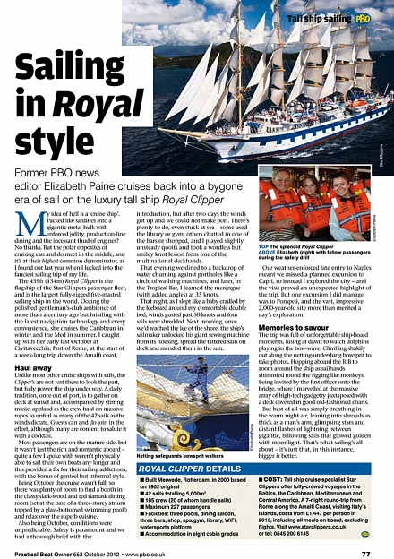 Story written for Practical Boat Owner magazine by Elizabeth Sporne (formerly Paine)